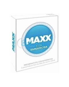PRESERVATIVO MAXX ESPERMICIDA X 3