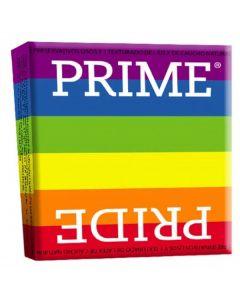 PRIME PRIDE 3 PRESERVATIVOS SURTIDOS CON UNO SUPER RESISTENTE