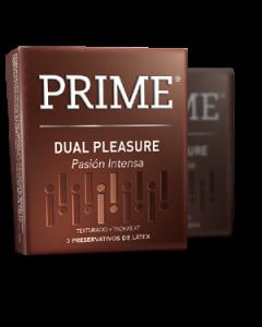 PRIME DUAL PLEASURE TEXTURADO + TACHAS XT